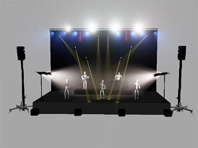 Diseño de iluminación con wysiwyg para un concierto