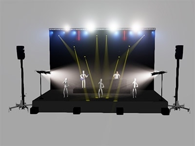 Disseny virtual il·luminació render Wysiwyg